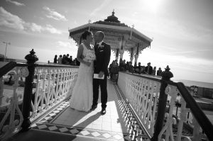 Wedding at Brighton Bandstand