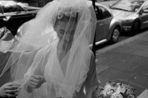 Photo of the brides arrival