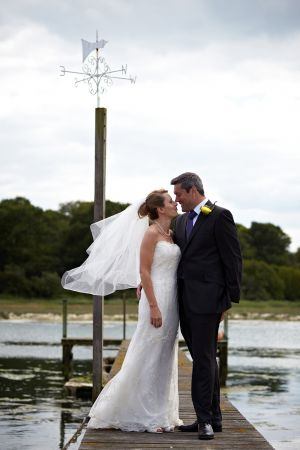 Photograph of the Bride and Groom after the ceremony