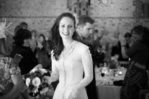 The Bride at the reception