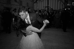 The first dance at Upwaltham Barns, West Sussex