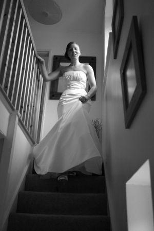 The Bride in all her finery