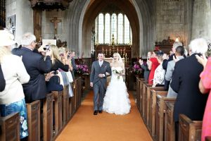 Wedding photography of the Bride's arrival