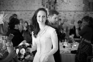 A photograph of the Bride at the reception