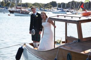 The Bride and Goom onboard