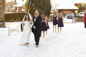 Winter wedding photographs