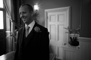 The Groom waiting at Brighton Registry Office